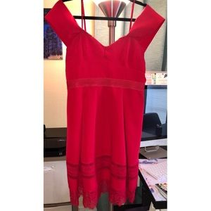 Francesca's Red Fit and Flare Dress